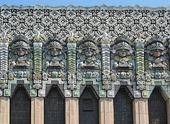Mayan Revival - Detail of the Mayan Theater from Los Angeles (USA), opened in 1927