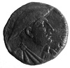 Face of King Gentius on Ancient Illyrian coin