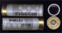 Two rounds of Fiocchi 12 gauge rubber buckshot