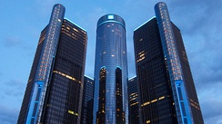 The Renaissance Center, headquarters of General Motors