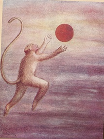 Child Hanuman reaches for the Sun thinking it is a fruit by BSP Pratinidhi