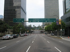 Entrance to the Harbor Freeway in Downtown Los Angeles