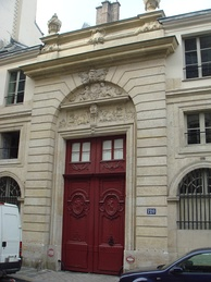 His last home, 120 rue du Bac, where Chateaubriand had an apartment on the ground floor