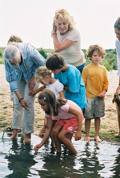 Goodall teaching about wetlands in Martha's Vineyard, US, 2006