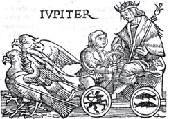 Jupiter, woodcut from a 1550 edition of Guido Bonatti's Liber Astronomiae