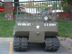 M29 Weasel in parking lot of Holiday Inn in Omaha