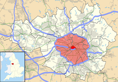 The M60 orbits the urban core of Greater Manchester, highlighted in red on the map