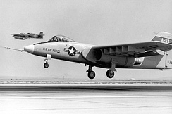 Northrop's YA-9; note the offset forward landing gear