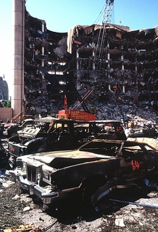 April 19: A car bomb explodes outside a Federal building in Oklahoma City, killing 168