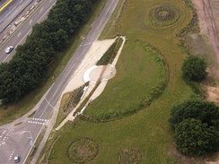 Vorstengraf near Oss (Netherlands) from above
