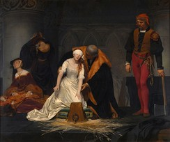 The Execution of Lady Jane Grey, by the French painter Paul Delaroche, 1833. National Gallery, London.