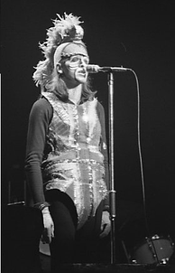 "Gabriel as ""Britannia"", or ""The Moonlit Knight"", 1974"
