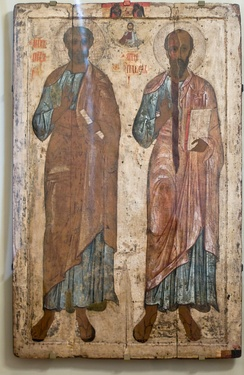 13th century icon of Ss. Peter and Paul (Belozersk).