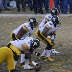 The Pittsburgh Steelers offensive line