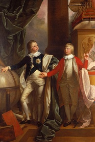 William aged thirteen (left) and his younger brother Edward, painted by Benjamin West, 1778