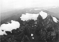 Ice cap at top of Puncak Jaya in Papua (1972).