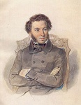 Portrait of A. Pushkin by Pyotr Sokolov (1836)