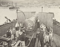 Barbette of the French battleship Redoutable (1876)