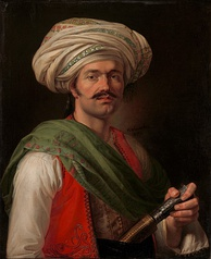 Portrait of Roustam Raza, the mamluck of Napoleon by Horace Vernet (1810)