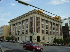 James Earl Rudder State Office Building, housing Secretary of State offices, is a National Registered Historic Place[1][discuss]