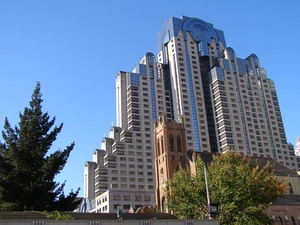 Marriott Marquis, San Francisco, CA. Completed 1989