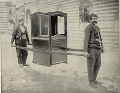 Turkish sedan chair from a historical exhibition