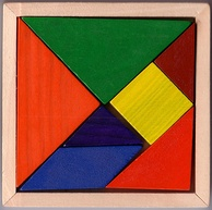 Traditional tangram dissection puzzle