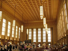 The grand concourse of the 30th Street Station, in Art Deco style, 1927–1933