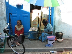 Old street sellers in Malé