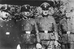 Members of SS-Totenkopfverbände from Treblinka (from left): Paul Bredow, Willi Mentz, Max Möller and Josef Hirtreiter