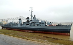 USS Kidd, located downtown on the river, is part of the Louisiana Naval Museum.