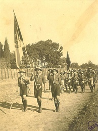 First procession of Armenian Scouts in Constantinople in 1918