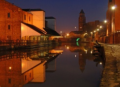 The Leeds and Liverpool Canal at Wigan Pier