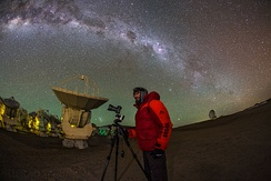 High on the Chajnantor Plateau, the Atacama Large Millimeter Array provides an extraordinary place for infrared astronomy.[2]