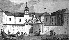 Saint-Sulpice Seminary in 1839. Completed in 1687, the seminary is the oldest standing building in Montreal.