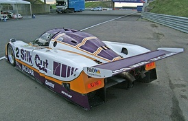 Rear three-quarter view of the 1988 Le Mans-winning XJR-9.