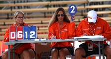 Officials keep score during a beach volleyball match at the 2017 Canada Summer Games