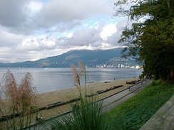 Third Beach is one of many beaches located in Vancouver. Given the city's proximity to the ocean, and mountains, the area is a popular destination for outdoor recreation.