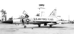 482d Fighter-Interceptor Squadron Convair F-102A-90-CO Delta Dagger 57-823, Washington Air Defense Sector, Seymour Johnson AFB, North Carolina, October 1962, Deployed at Homestead AFB, Florida during Cuban Missile Crisis