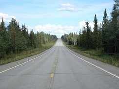 View of the highway at Mile 1,337, facing east