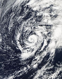 Subtropical Storm Alex in the north Atlantic Ocean in January 2016