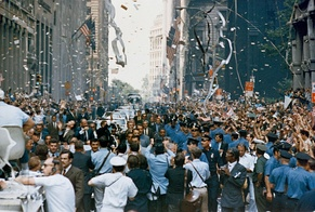 Canyon of Heroes during a ticker-tape parade for the Apollo 11 astronauts on August 13, 1969