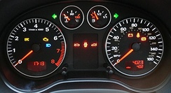 Audi Sans, a variation of Univers used in the dashboard graphics of an Audi A3 instrument panel