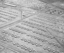 Retired B-47s at Davis-Monthan Air Force Base in the 1960s