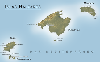 Map of the Balearic Islands, c. 2006