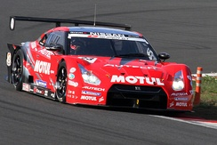 Tréluyer driving the Nissan GT-R GT500 for Nismo at the 2010 Super GT Fuji 400km race.