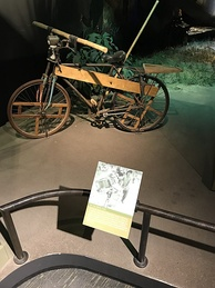 Bicycle used by Communist forces in the Ho Chi Minh Trail to transport supplies. National Museum of American History, Washington, D.C.