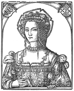 Isabella's daughter Bona, depicted here in the year that she married (1517)