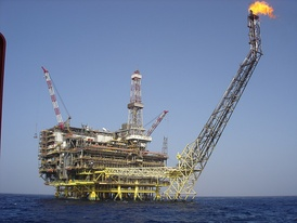 Eni Oil Bouri DP4 in Bouri Field is the biggest platform in the Mediterranean Sea