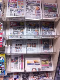 British tabloids (top two rows), July 5, 2011